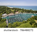 aerial view of a harbor with... | Shutterstock . vector #786488272