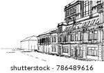 historical building vector... | Shutterstock .eps vector #786489616