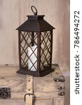old lantern with candle...   Shutterstock . vector #786494272