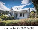 A beautiful house built on Baldwin Street, the steepest street in the world (Dunedin, New Zealand).
