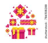 different valentine's day...   Shutterstock .eps vector #786508288