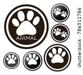 icon and animal    icon animal... | Shutterstock .eps vector #786511786
