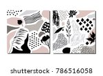 collection of trendy creative...   Shutterstock .eps vector #786516058