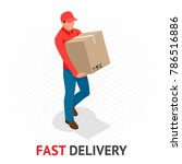 isomeric fast delivery concept. ... | Shutterstock .eps vector #786516886
