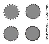 set of vector starburst ... | Shutterstock .eps vector #786518986