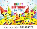 happy birthday background 3d... | Shutterstock . vector #786523822