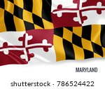 u.s. state maryland flag waving ... | Shutterstock . vector #786524422