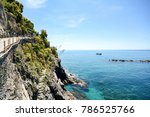 cinque terre  hiking trail from ... | Shutterstock . vector #786525766
