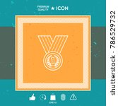 medal with laurel wreath. line...   Shutterstock .eps vector #786529732