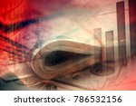 euro coins and us dollar... | Shutterstock . vector #786532156