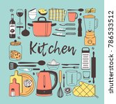 hand drawn illustration cooking ... | Shutterstock .eps vector #786533512