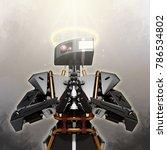 robot representing good... | Shutterstock . vector #786534802