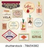 illustration retro label ... | Shutterstock .eps vector #78654382