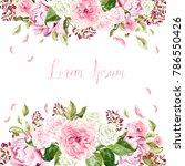 beautiful  wedding card ...   Shutterstock . vector #786550426