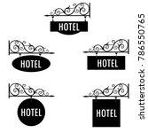 raster illustration hotel... | Shutterstock . vector #786550765