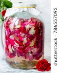 homemade rose wine  tea rose... | Shutterstock . vector #786557092