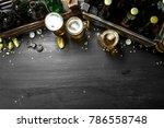 beer background. fresh beer and ... | Shutterstock . vector #786558748