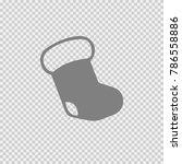 christmas stocking vector icon... | Shutterstock .eps vector #786558886