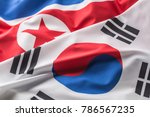 south and north korea flag. | Shutterstock . vector #786567235