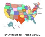 usa map with all the states and ...   Shutterstock . vector #786568432