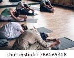 diversity people exercise class ... | Shutterstock . vector #786569458