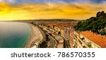 panoramic view of nice in the... | Shutterstock . vector #786570355