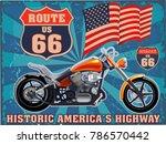 vintage motorcycle label | Shutterstock . vector #786570442