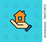 set of real estate icons.... | Shutterstock .eps vector #786572872