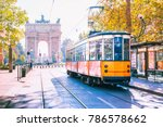 famous vintage tram in the... | Shutterstock . vector #786578662