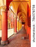 medieval street portico with...   Shutterstock . vector #786578758