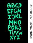 horror vector sticky font | Shutterstock .eps vector #786580312