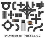 street road elements. urban... | Shutterstock .eps vector #786582712
