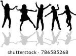 childrens black silhouettes. | Shutterstock .eps vector #786585268