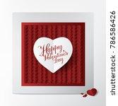 modern classic greeting card... | Shutterstock .eps vector #786586426