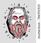 modern sculpture. t shirt... | Shutterstock .eps vector #786592525