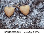 valentine s day still life with ... | Shutterstock . vector #786595492