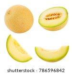 cantaloupe melon collection... | Shutterstock . vector #786596842