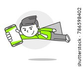 vector person with phone... | Shutterstock .eps vector #786598402