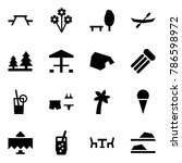 origami style icon set   picnic ... | Shutterstock .eps vector #786598972
