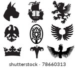Set Of Heraldic Elements Usefu...