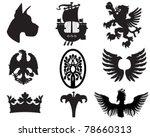 Set Of Heraldic Elements Usefu...