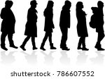 group of people. crowd of...   Shutterstock .eps vector #786607552