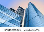 vector skyline with business... | Shutterstock .eps vector #786608698