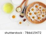 holistic homemade herbal... | Shutterstock . vector #786615472