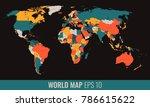 high detail geopolititcal world ...   Shutterstock .eps vector #786615622
