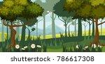 beautiful forest landscape ... | Shutterstock .eps vector #786617308