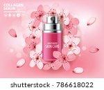 sukura   cherry blossom... | Shutterstock .eps vector #786618022