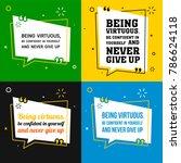 vector quote set. being... | Shutterstock .eps vector #786624118