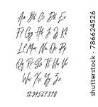 handwritten brush style modern... | Shutterstock .eps vector #786624526