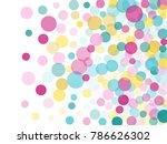 festive round confetti... | Shutterstock .eps vector #786626302